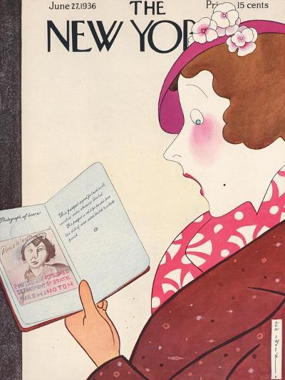 The New Yorker Cover - June 27, 1936-Rea Irvin-Premium Giclee Print