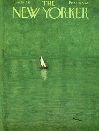 The New Yorker Cover - June 29, 1957-Abe Birnbaum-Premium Giclee Print