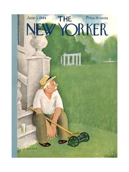The New Yorker Cover - June 3, 1944-William Cotton-Premium Giclee Print