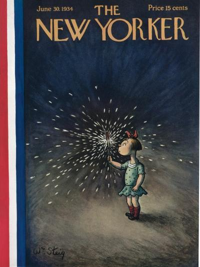 The New Yorker Cover - June 30, 1934-William Steig-Premium Giclee Print