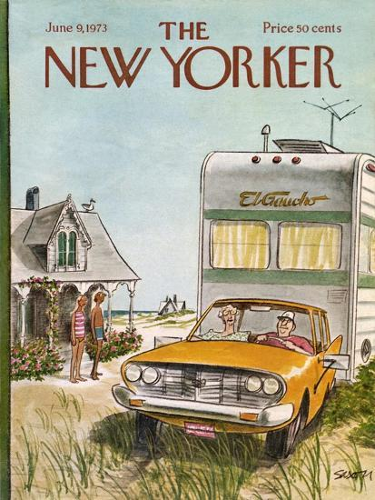 The New Yorker Cover - June 9, 1973-Charles Saxon-Premium Giclee Print
