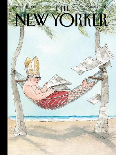 The New Yorker Cover - March 11, 2013-Barry Blitt-Premium Giclee Print