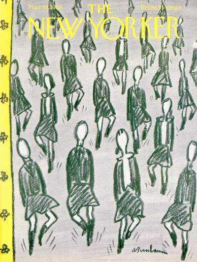 The New Yorker Cover - March 15, 1958-Abe Birnbaum-Premium Giclee Print