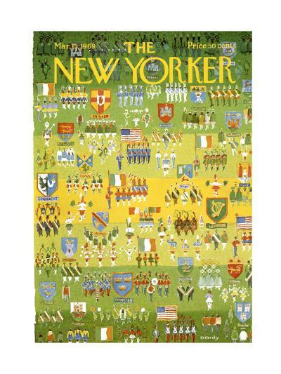 The New Yorker Cover - March 15, 1969-Anatol Kovarsky-Premium Giclee Print