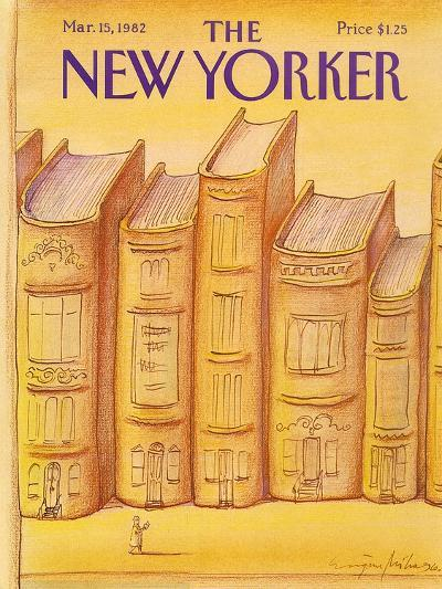 The New Yorker Cover - March 15, 1982-Eug?ne Mihaesco-Premium Giclee Print