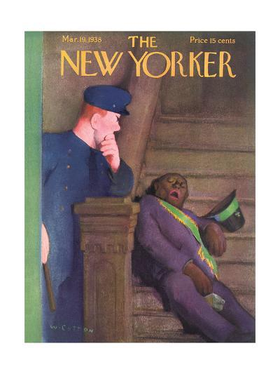 The New Yorker Cover - March 19, 1938-William Cotton-Premium Giclee Print
