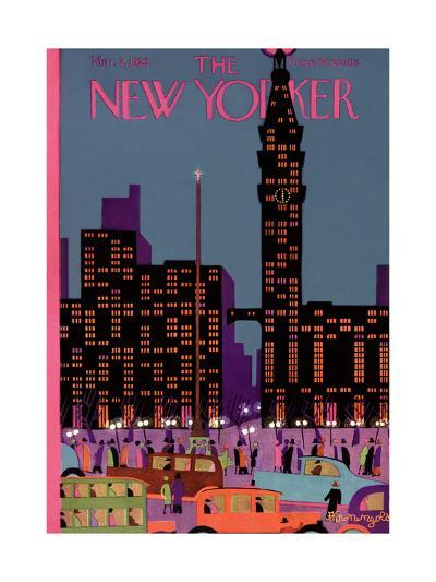 The New Yorker Cover - March 2, 1929-Adolph K. Kronengold-Premium Giclee Print