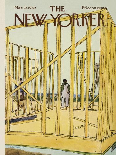 The New Yorker Cover - March 22, 1969-James Stevenson-Premium Giclee Print