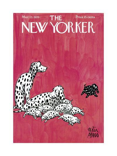 The New Yorker Cover - March 23, 1935-Peter Arno-Premium Giclee Print