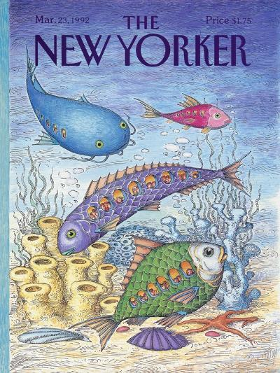 The New Yorker Cover - March 23, 1992-John O'brien-Premium Giclee Print