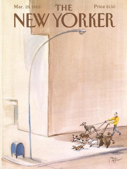 The New Yorker Cover - March 25, 1985-Paul Degen-Premium Giclee Print