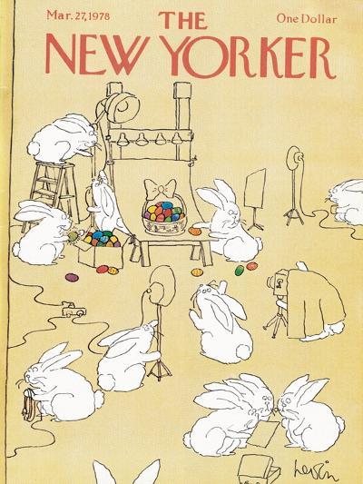 The New Yorker Cover - March 27, 1978-Arnie Levin-Premium Giclee Print
