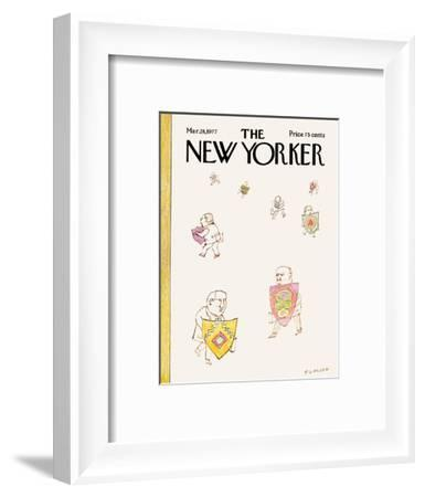 The New Yorker Cover - March 28, 1977-Douglas Florian-Framed Premium Giclee Print
