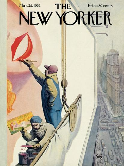 971f71bab The New Yorker Cover - March 29, 1952 Premium Giclee Print by Arthur Getz |  Art.com