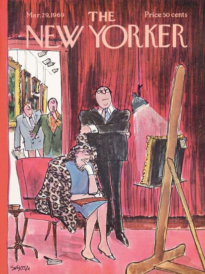The New Yorker Cover - March 29, 1969-Charles Saxon-Premium Giclee Print