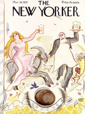 The New Yorker Cover - March 30, 1935-Garrett Price-Premium Giclee Print