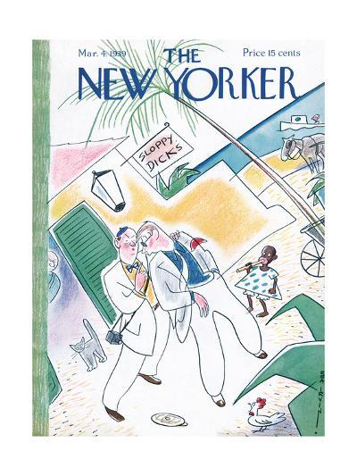 The New Yorker Cover - March 4, 1939-Rea Irvin-Premium Giclee Print