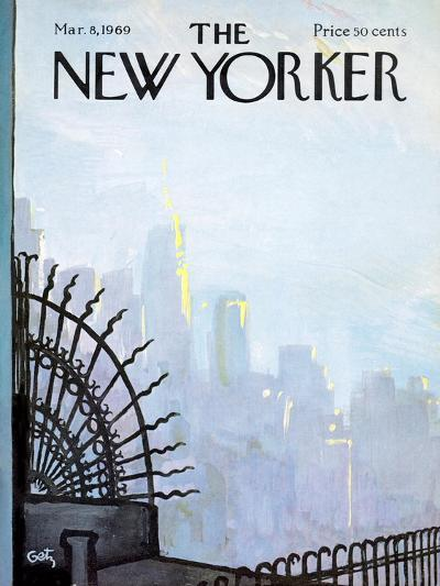 The New Yorker Cover - March 8, 1969-Arthur Getz-Premium Giclee Print