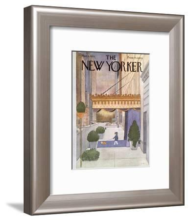 The New Yorker Cover - March 8, 1976-Charles E. Martin-Framed Premium Giclee Print