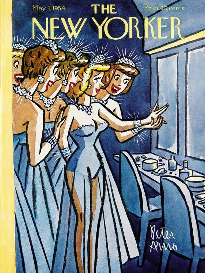 The New Yorker Cover - May 1, 1954-Peter Arno-Premium Giclee Print