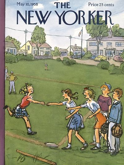The New Yorker Cover - May 10, 1958-Perry Barlow-Premium Giclee Print