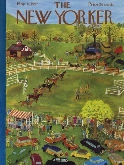 The New Yorker Cover - May 11, 1957-Ilonka Karasz-Premium Giclee Print