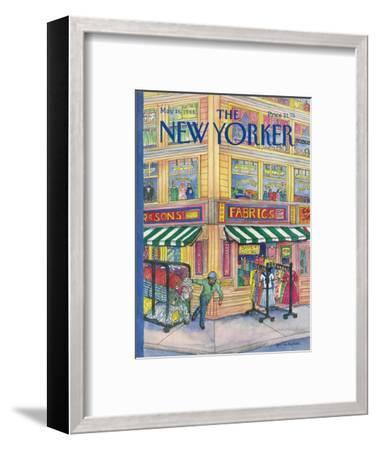 The New Yorker Cover - May 16, 1988-Iris VanRynbach-Framed Premium Giclee Print