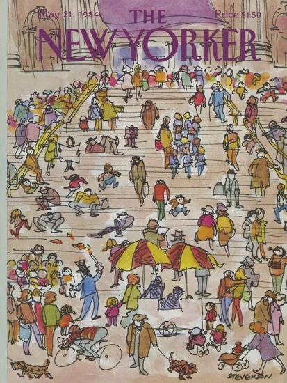 The New Yorker Cover - May 21, 1984-James Stevenson-Premium Giclee Print