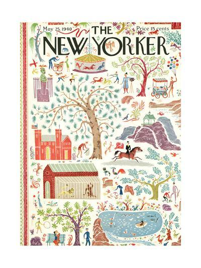 The New Yorker Cover - May 25, 1940-Joseph Low-Premium Giclee Print