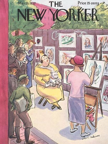 The New Yorker Cover - May 29, 1937-Helen E. Hokinson-Premium Giclee Print