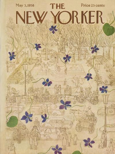 The New Yorker Cover - May 3, 1958-Ilonka Karasz-Premium Giclee Print