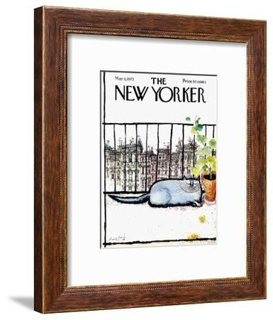 The New Yorker Cover - May 6, 1972-Ronald Searle-Framed Premium Giclee Print