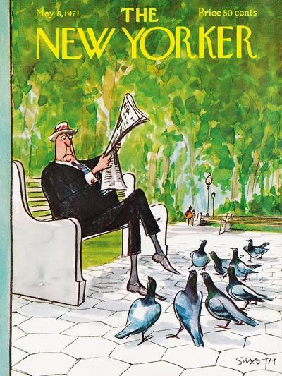 The New Yorker Cover - May 8, 1971-Charles Saxon-Premium Giclee Print