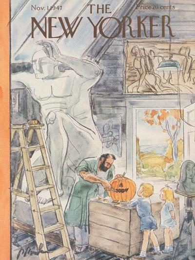 The New Yorker Cover - November 1, 1947-Perry Barlow-Premium Giclee Print