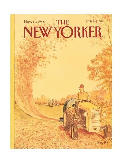 The New Yorker Cover - November 11, 1985-Charles Saxon-Premium Giclee Print