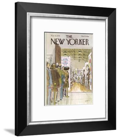 The New Yorker Cover - November 12, 1979-Charles Saxon-Framed Premium Giclee Print