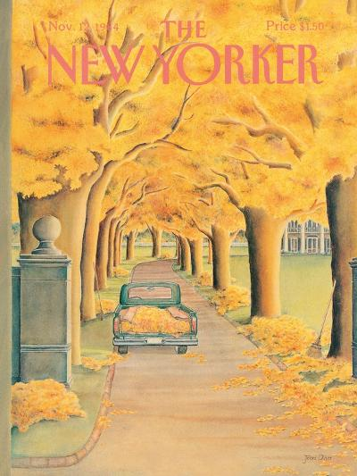 The New Yorker Cover - November 12, 1984-Jenni Oliver-Premium Giclee Print