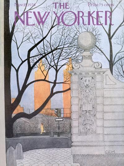 The New Yorker Cover - November 15, 1976-Charles E. Martin-Premium Giclee Print