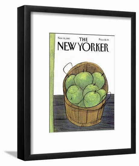 The New Yorker Cover - November 16, 1981-Donald Reilly-Framed Premium Giclee Print