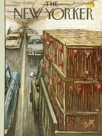 The New Yorker Cover - November 17, 1956-Arthur Getz-Premium Giclee Print