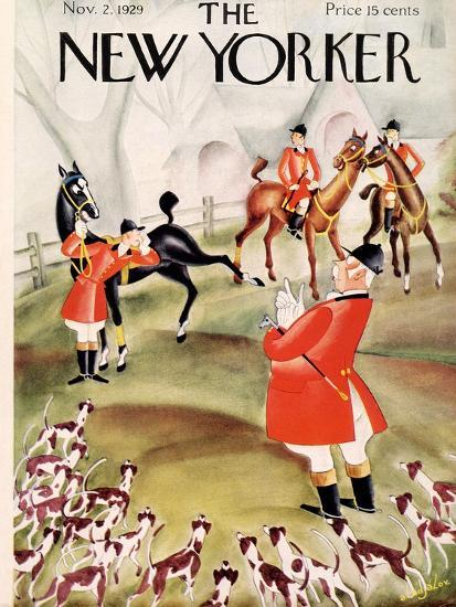 The New Yorker Cover - November 2, 1929-Constantin Alajalov-Premium Giclee Print