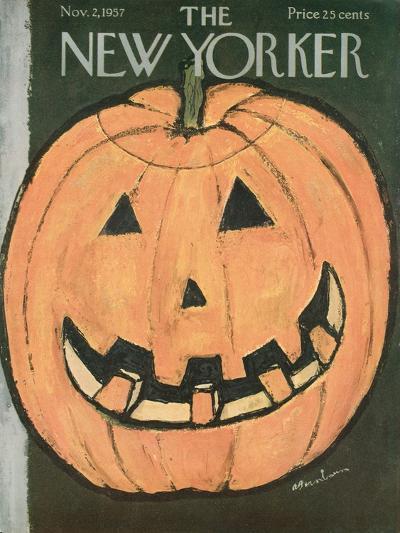 The New Yorker Cover - November 2, 1957-Abe Birnbaum-Premium Giclee Print