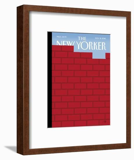 The New Yorker Cover - November 21, 2016-Bob Staake-Framed Premium Giclee Print