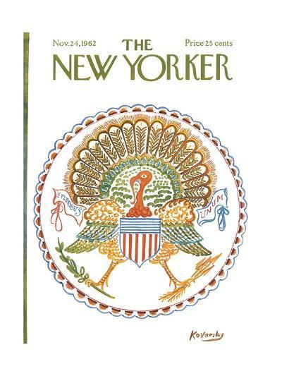 The New Yorker Cover - November 24, 1962-Anatol Kovarsky-Premium Giclee Print