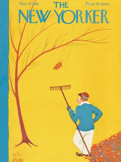 The New Yorker Cover - November 27, 1926-Peter Arno-Premium Giclee Print