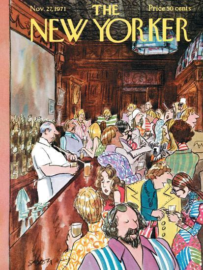 The New Yorker Cover - November 27, 1971-Charles Saxon-Premium Giclee Print