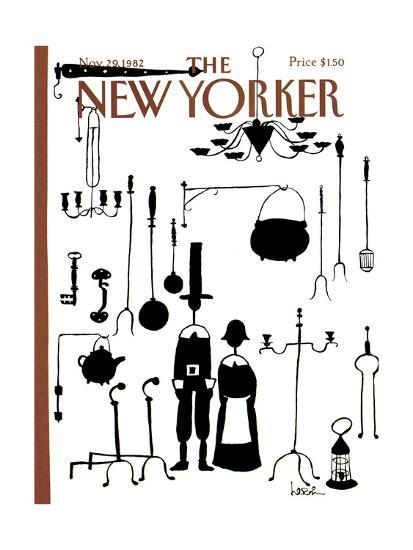 The New Yorker Cover - November 29, 1982-Arnie Levin-Premium Giclee Print