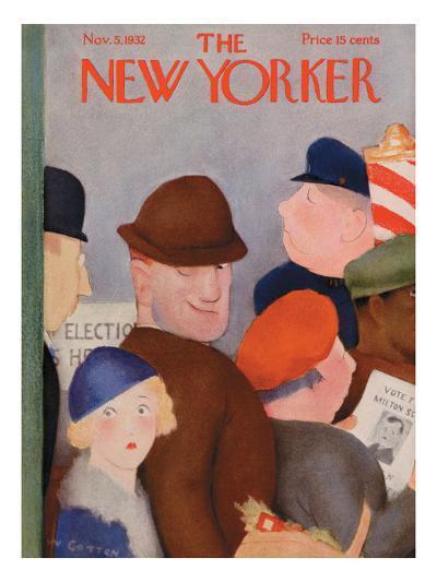 The New Yorker Cover - November 5, 1932-William Cotton-Premium Giclee Print