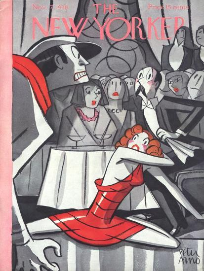 The New Yorker Cover - November 7, 1936-Peter Arno-Premium Giclee Print