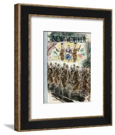The New Yorker Cover - November 7, 1942-Leonard Dove-Framed Premium Giclee Print